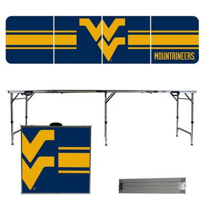 West Virginia Mountaineers Striped Tailgate Table