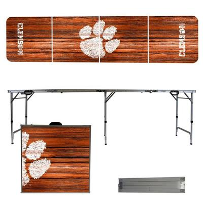 Clemson Weathered Faux Wood Tailgate Table