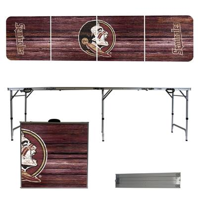 Florida State Weathered Faux Wood Tailgate Table