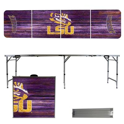 LSU Weathered Faux Wood Tailgate Table