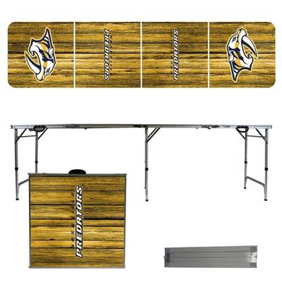 Nashville Preds Weathered Faux Wood Tailgate Table