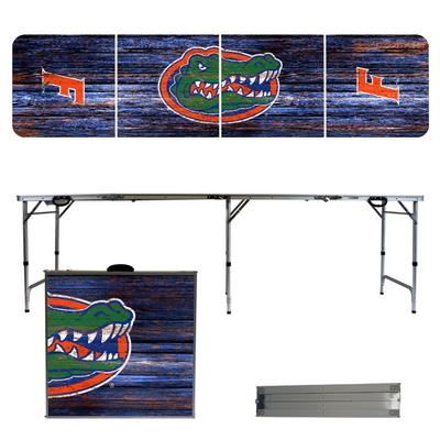 Florida Gators Weathered Faux Wood Tailgate Table