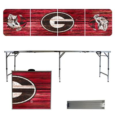 Georgia Bulldogs Weathered Faux Wood Tailgate Table