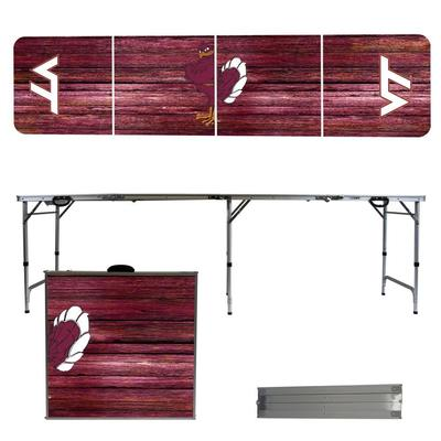 Virginia Tech Weathered Faux Wood Tailgate Table