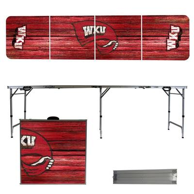 Western Kentucky Weathered Faux Wood Tailgate Table