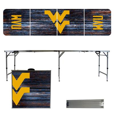 West Virginia Weathered Faux Wood Tailgate Table
