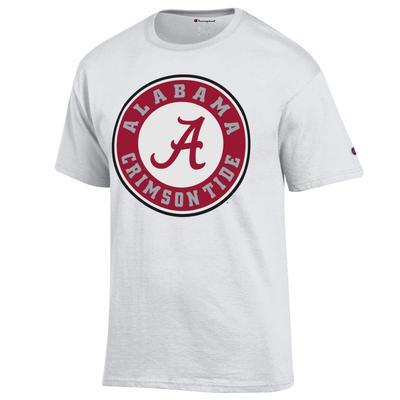 Alabama Champion Men's Giant Circle A Logo Tee
