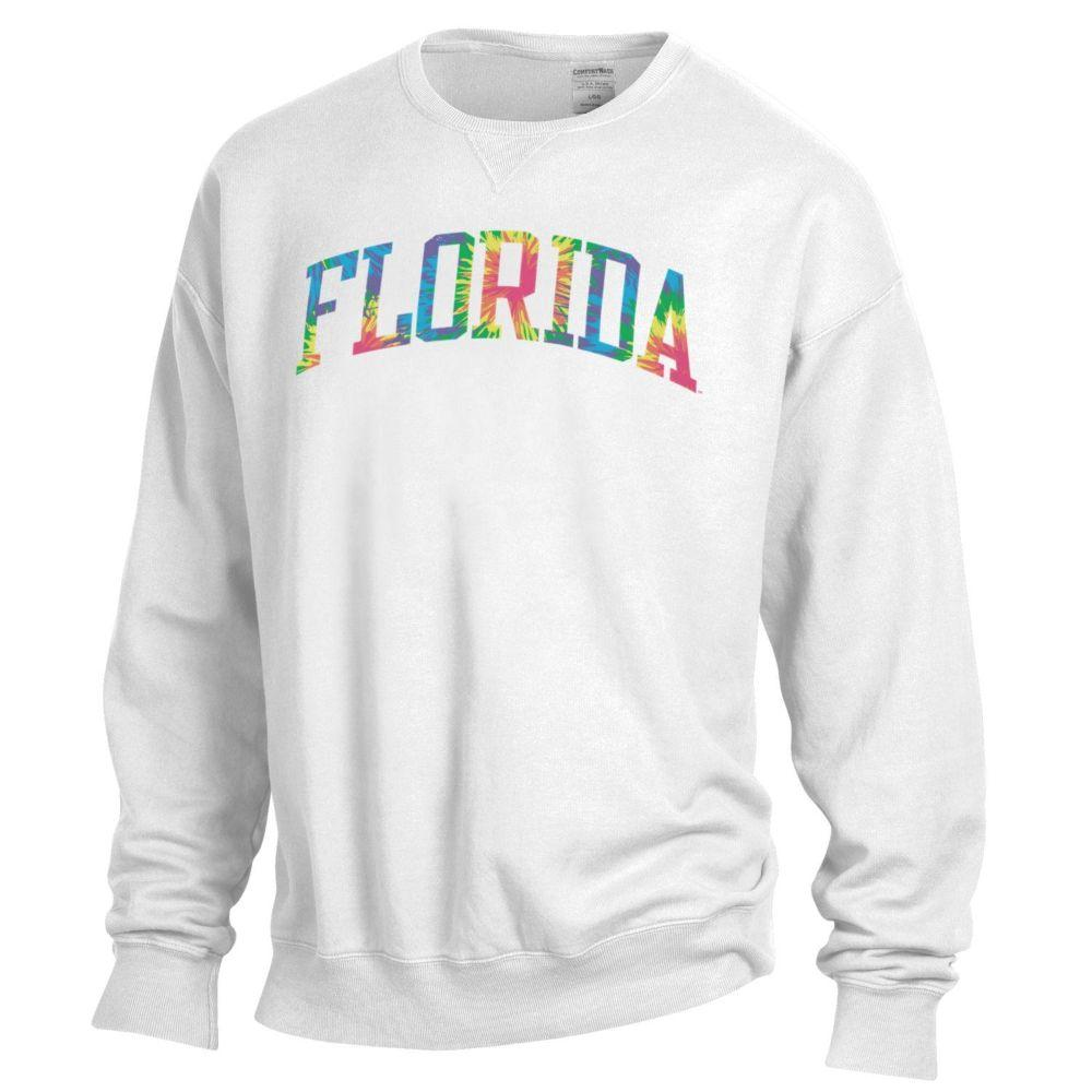 Florida Tie Dye Arch Long Sleeve Crew