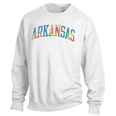 Arkansas Tie Dye Arch Long Sleeve Crew
