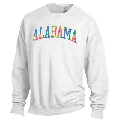 Alabama Tie Dye Arch Long Sleeve Crew