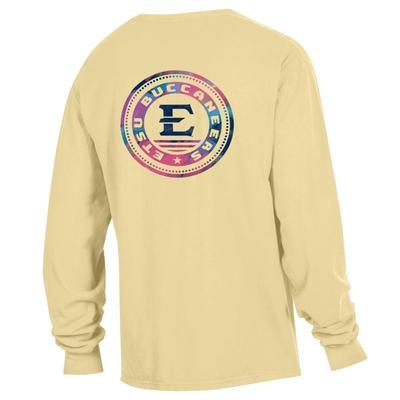 ETSU Colorful Circle Long Sleeve Comfort Colors Tee