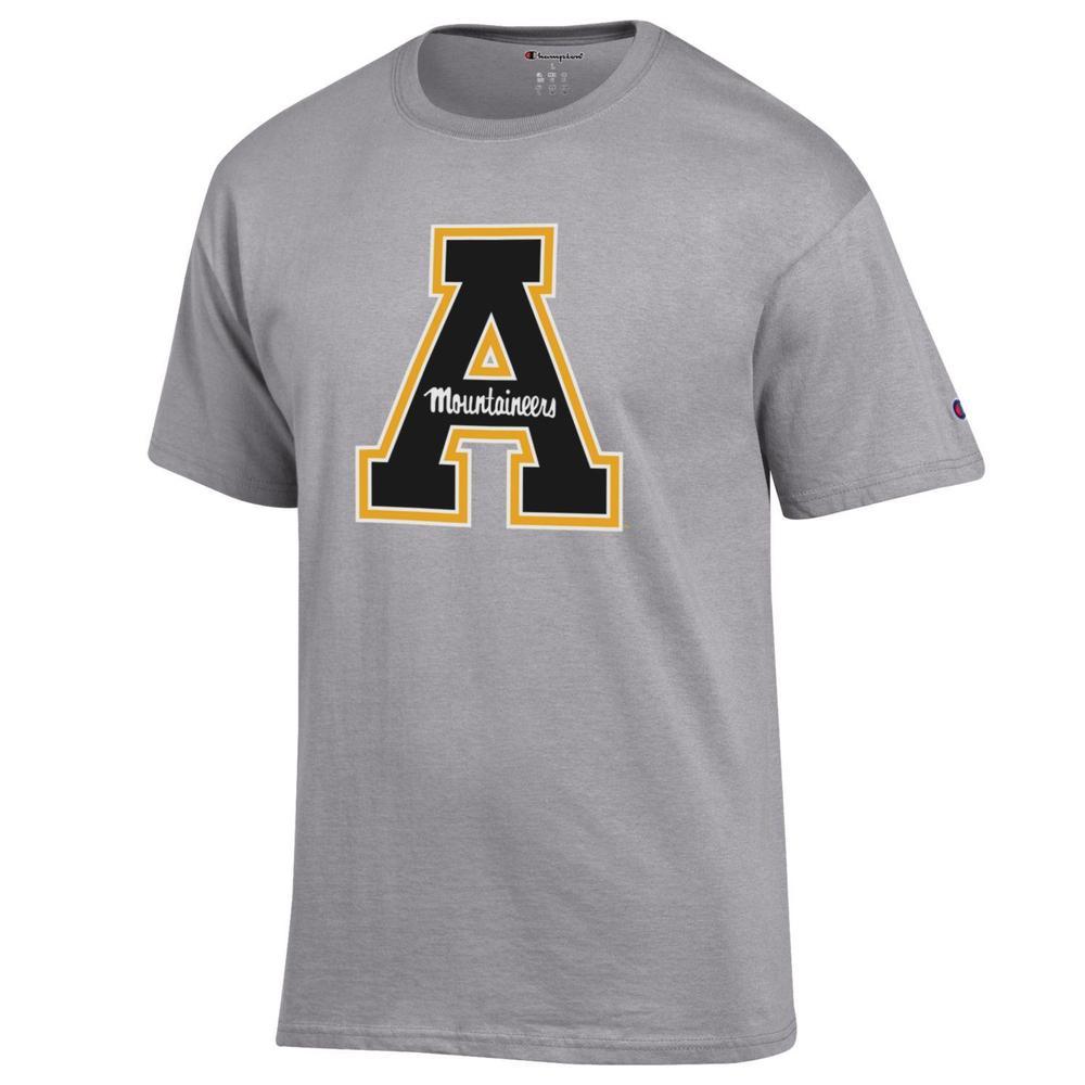 Appalachian State Champion Men's Giant Block A Logo Tee