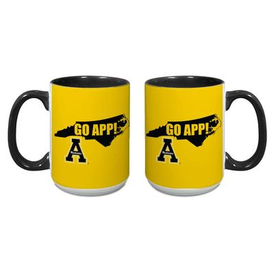 Appalachian State 15 oz App State Go App Mug