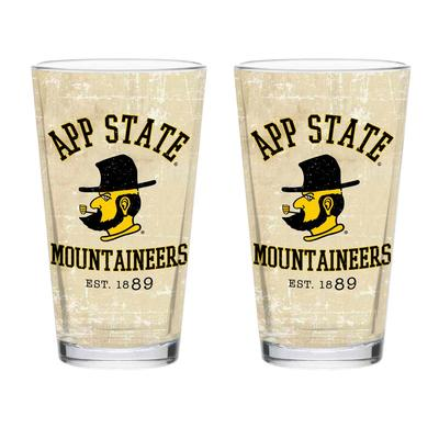 Appalachian State 16 oz App State Retro Pint Glass