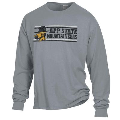 Appalachian State Distressed Long Sleeve Comfort Colors Tee