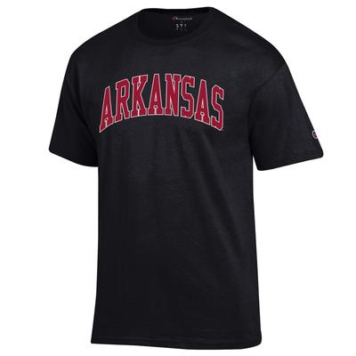 Arkansas Champion Men's Arch Tee BLACK