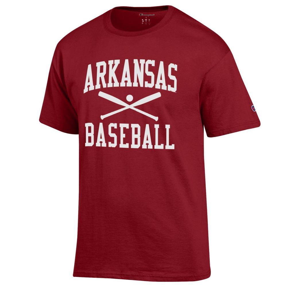 Arkansas Champion Men's Basic Baseball Tee