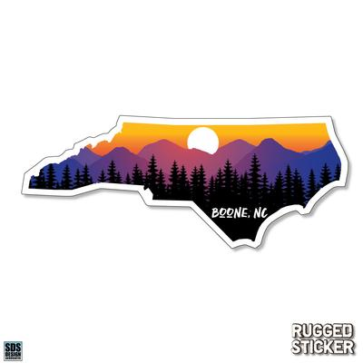 Seasons Design Boone State Shape Sunset Decal