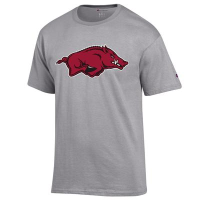 Arkansas Champion Men's Giant Running Hog Logo Tee
