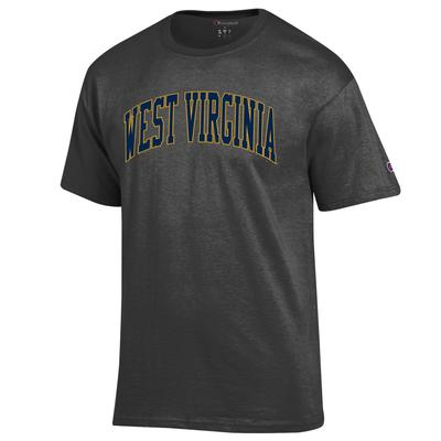 West Virginia Champion Men's Arch Tee GRANITE_HTHR