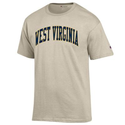 West Virginia Champion Men's Arch Tee OATMEAL