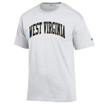 West Virginia Champion Men's Arch Tee WHITE