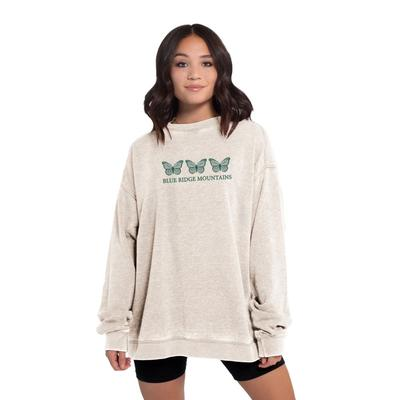 Chicka-D Women's Boone Campus Crew Distressed Sweatshirt