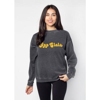 Appalachian State Chicka-D Women's Groovy Shadow Campus Crew Sweatshirt