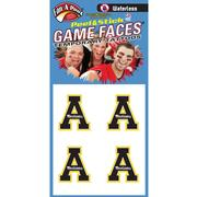 Appalachian State Waterless Black Block A Game Face Decals