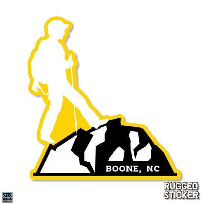 Seasons Design Boone Male Hiker Decal