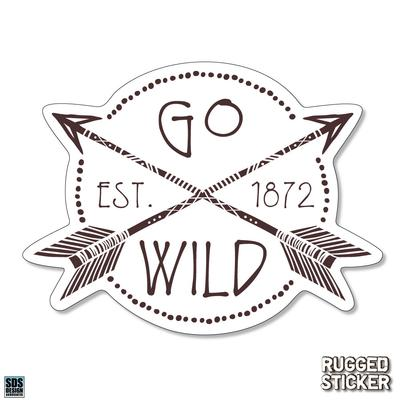 Seasons Design Boone Go Wild EST 1872 Decal