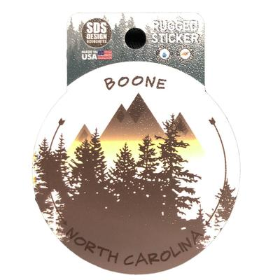 Seasons Design Boone App State University Mountains Circle Decal