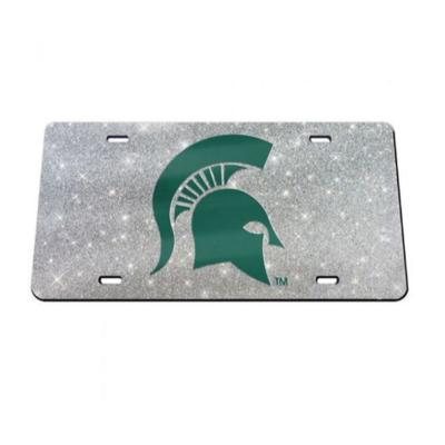 Michigan State Glitter License Plate