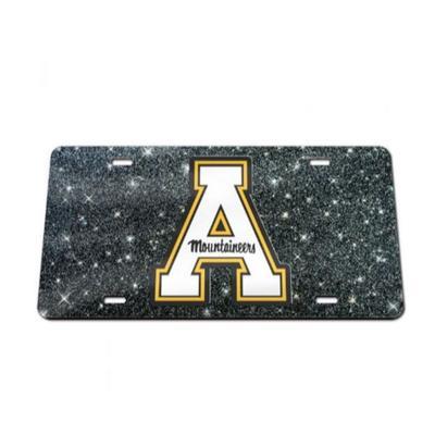 Appalachian State Glitter License Plate