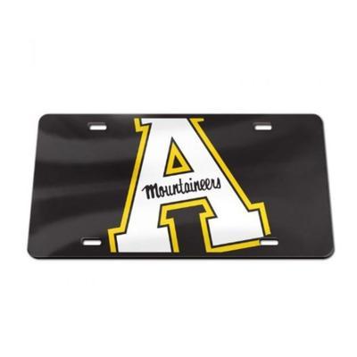 Appalachian State Acrylic Block A License Plate