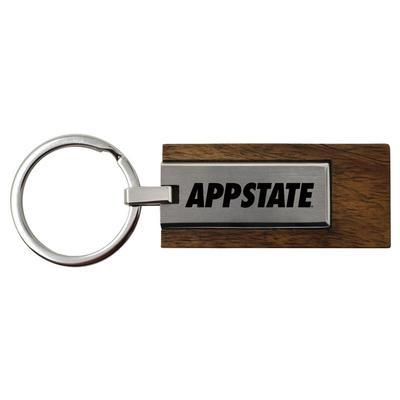 Appalachian State Luxewood and Metal Key Chain