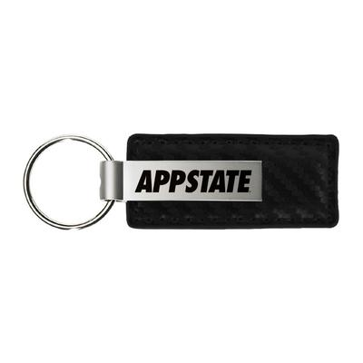 Appalachian State Carbon Fiber Leather Key Chain