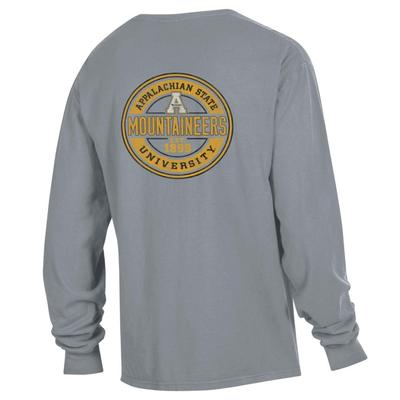 Appalachian State Distressed Circle Long Sleeve Comfort Colors Tee