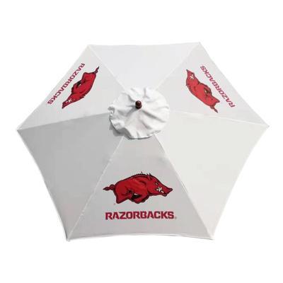Arkansas Steel Wood Grain Patio Umbrella