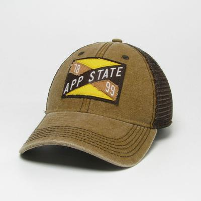 Appalachian State Legacy Frayed X Patch Hat