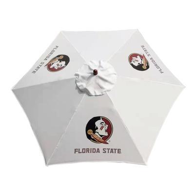 Florida State Steel Wood Grain Patio Umbrella