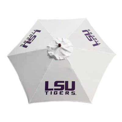 LSU Steel Wood Grain Patio Umbrella