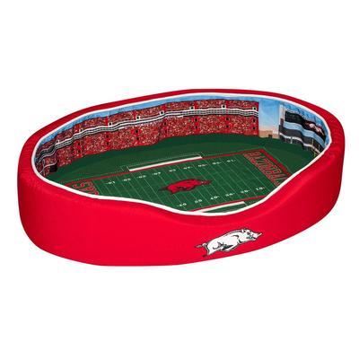 Arkansas Stadium Spot MEDIUM Dog Bed