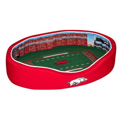Arkansas Stadium Spot LARGE Dog Bed