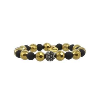 Erimish Gold and Black Sasha Stackable Bracelet