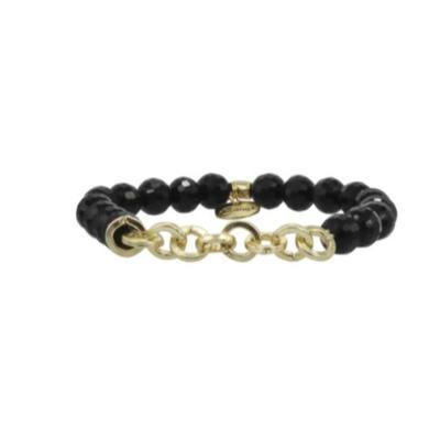 Erimish Gold and Black Ace Stackable Bracelet