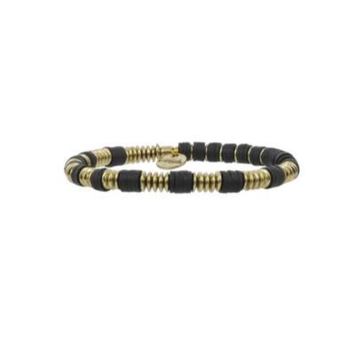 Erimish Gold and Black Jay Stackable Bracelet