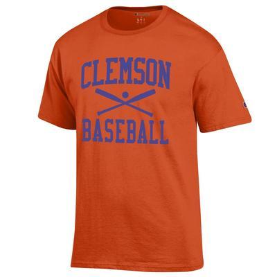 Clemson Champion Men's Basic Baseball Tee ORANGE