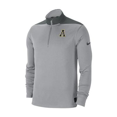 Appalachian State Nike Dri-FIT 1/4 Zip Pullover WOLF_GREY