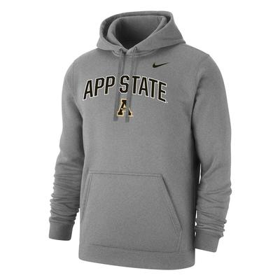 Appalachian State Nike Club Fleece Arch Hoody